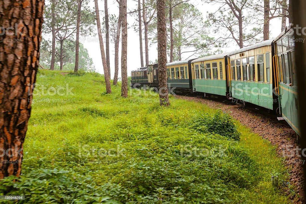 Old Train,Trainset museum train Shimla-Kalka India stock photo