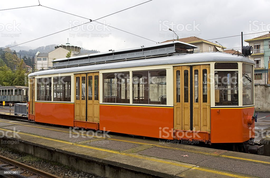 Old tram royalty free stockfoto