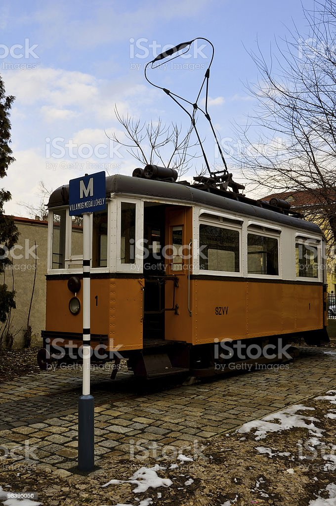 Old tram royalty-free stock photo