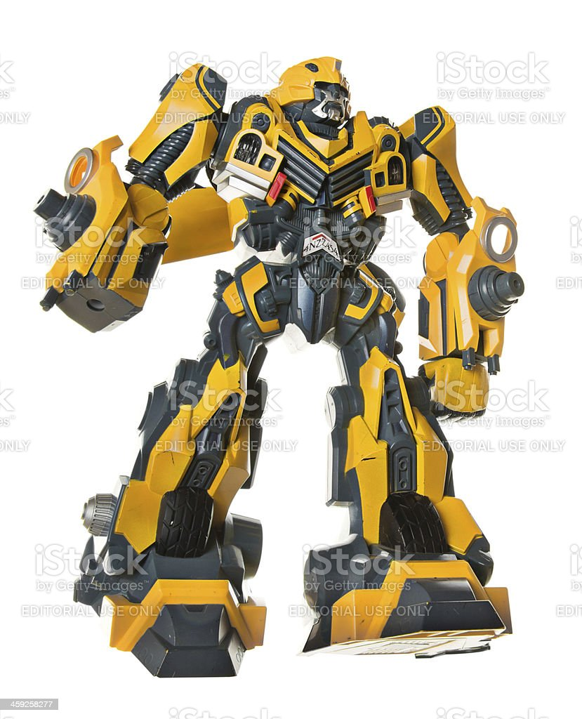 Old Transformer Plastic Toy royalty-free stock photo