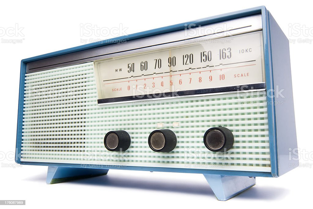 Old transistor radio stock photo