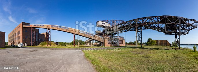 istock old transportion belt in the starting area of V2 rockets during WW2 904923114