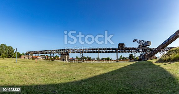 istock old transportion belt in the starting area of V2 rockets during WW2 904923332