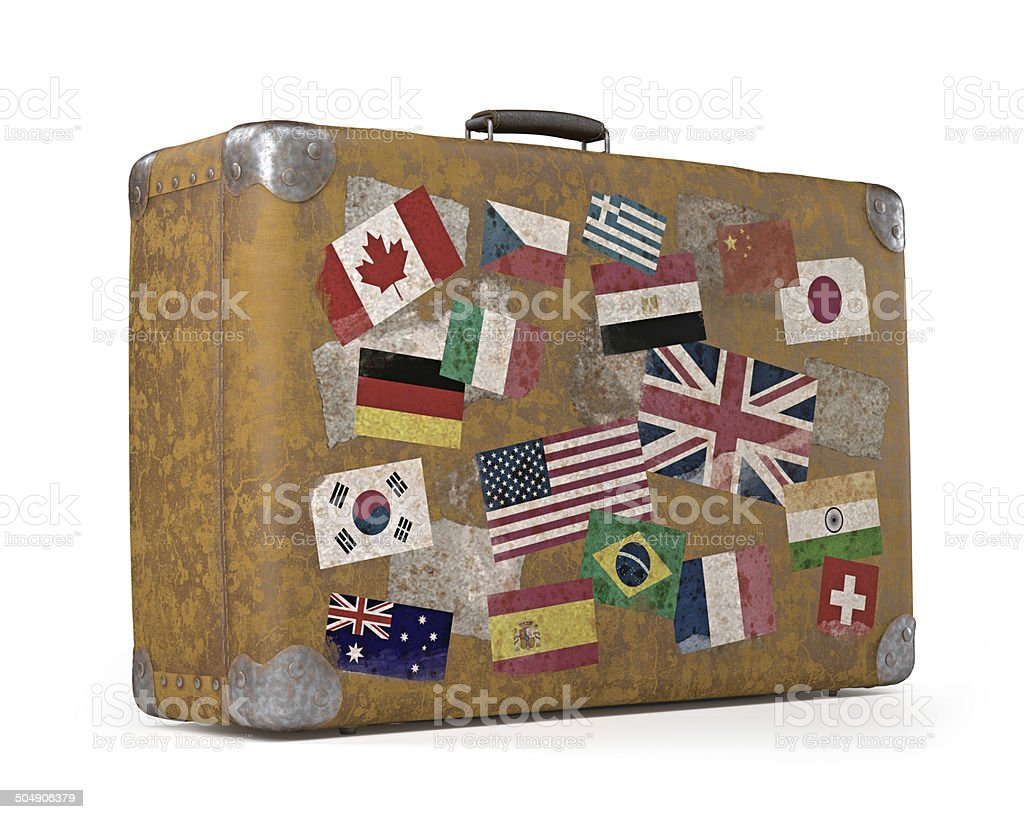 Old Traveled Bag stock photo