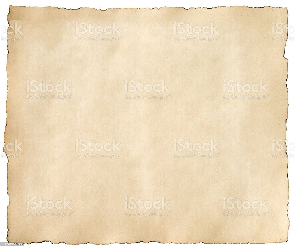 Old treasure map paper stock photo