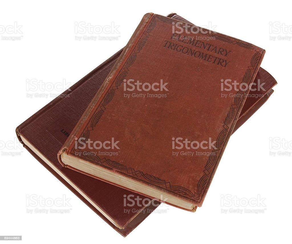 Old trigonometry books royalty-free stock photo