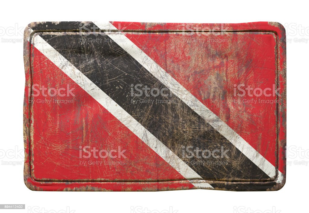 Old Trinidad and Tobago flag stock photo