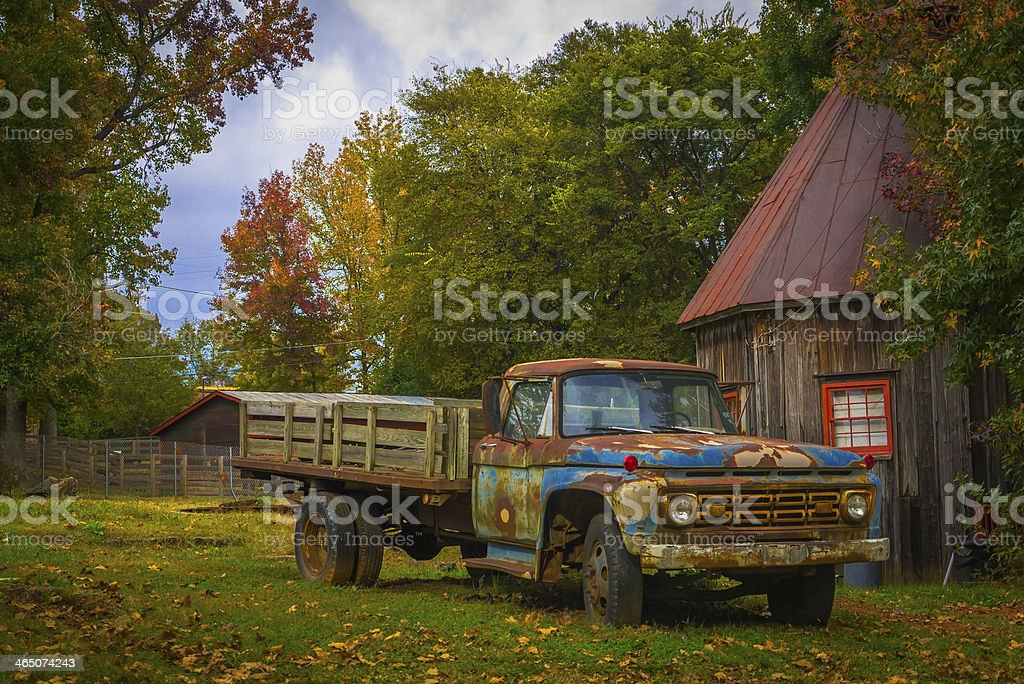 Old Truck in Countryside stock photo