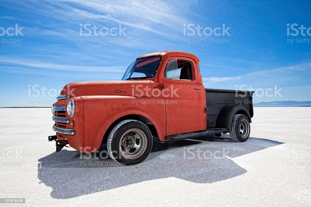 Old Truck On Bonneville Salt Flats stock photo