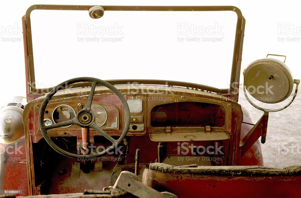 Old truck picture frame royalty-free stock photo