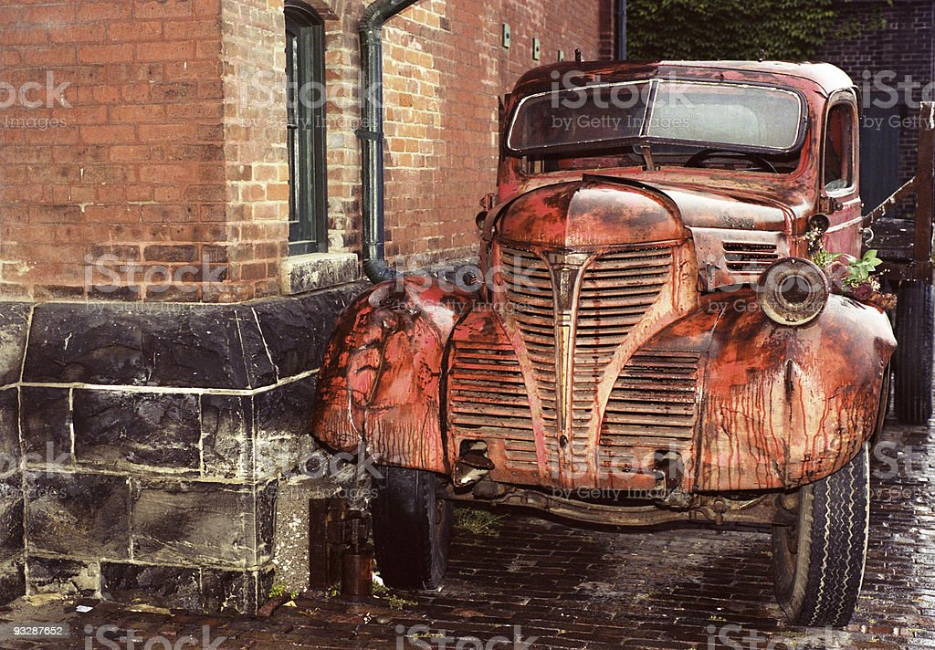 Old Truck Rusted From The Rain Stock Photo & More Pictures of Brown ...