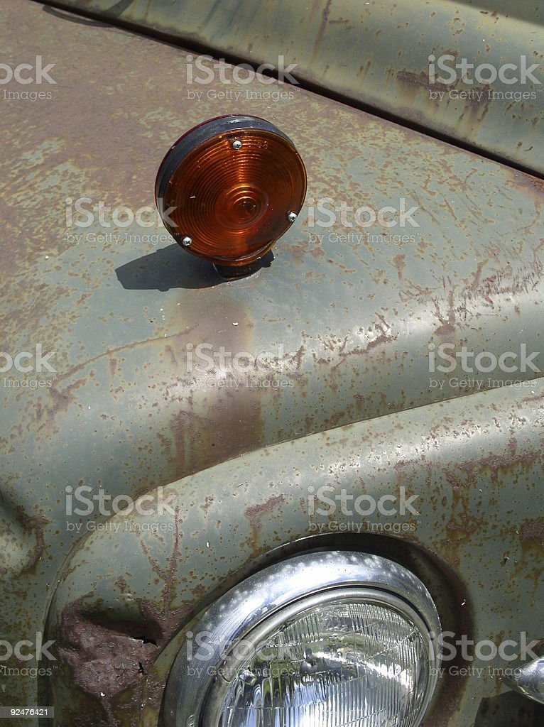 Old Truck Signal and Headlight royalty-free stock photo