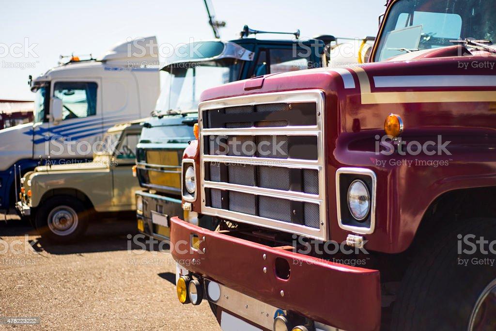 Old trucks stock photo