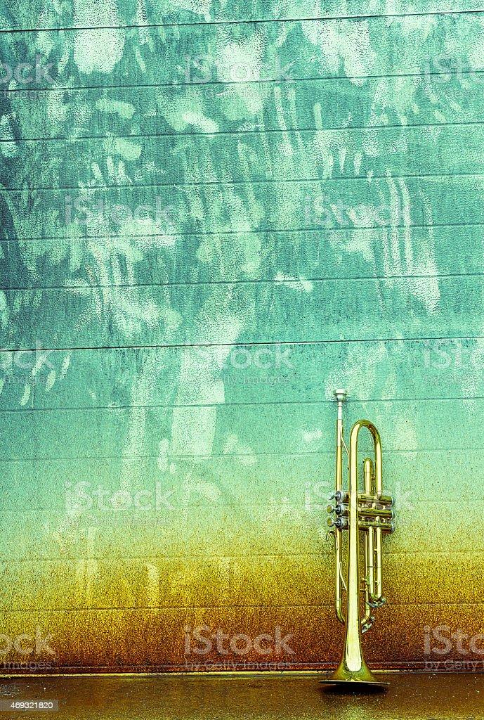 Old Trumpet stock photo