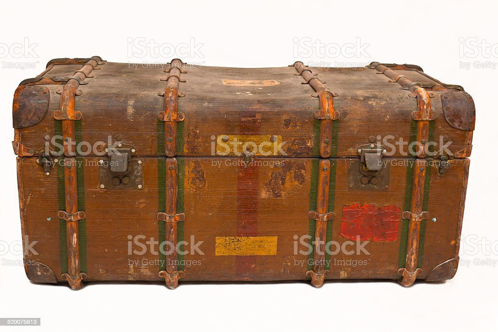 Old Trunk Chest stock photo