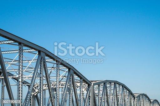 826748544 istock photo Old truss Bridge. 502790523