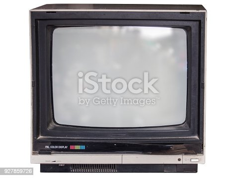 istock old tube television with white background 927859726