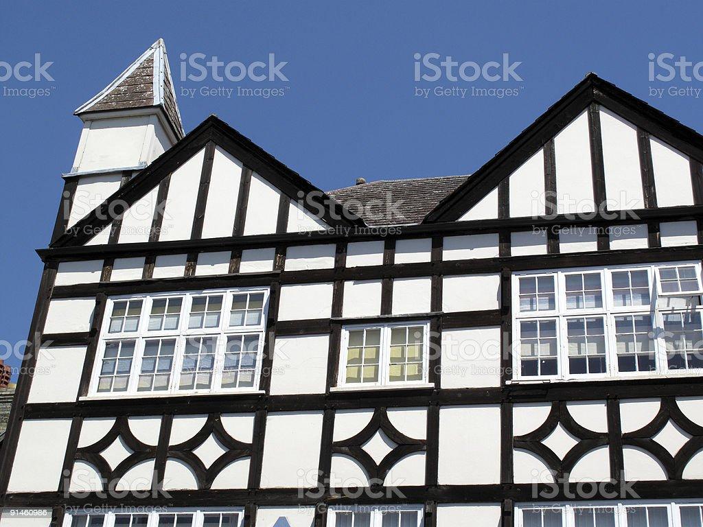 Old Tudor Houses stock photo