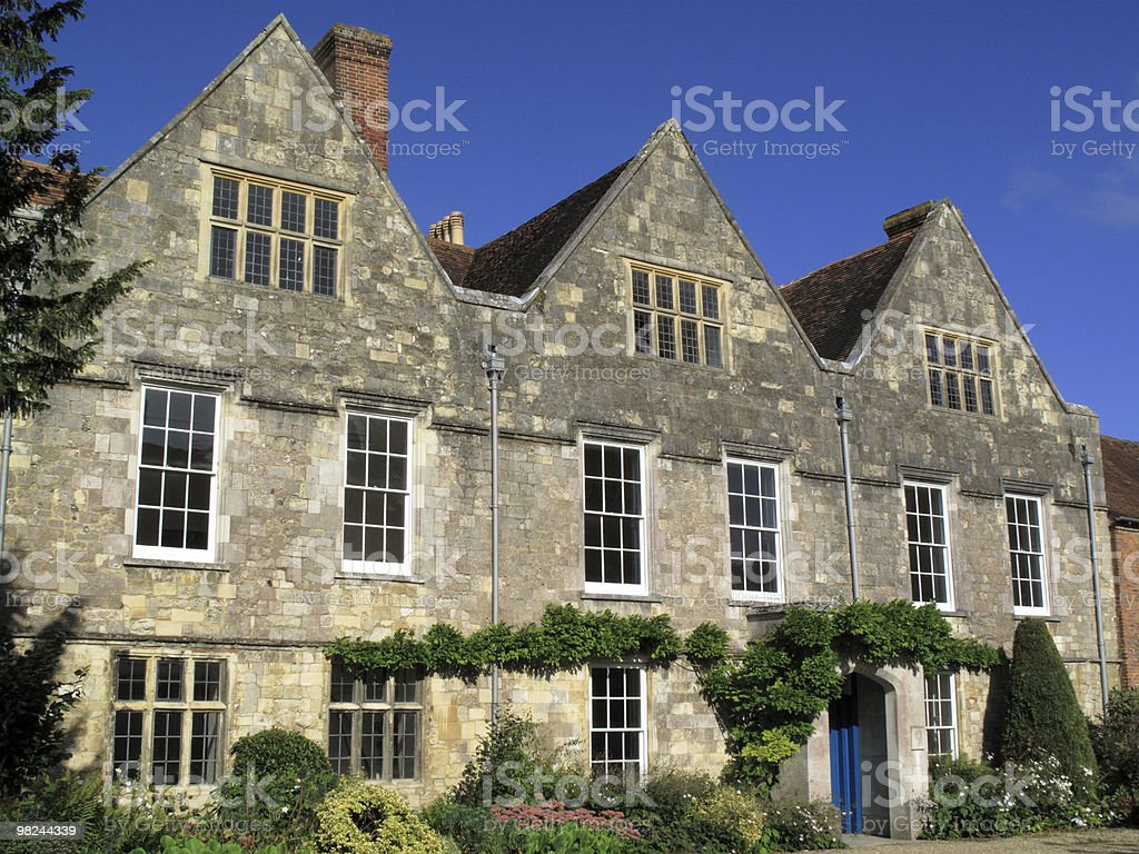 Old Tudor mansion stock photo