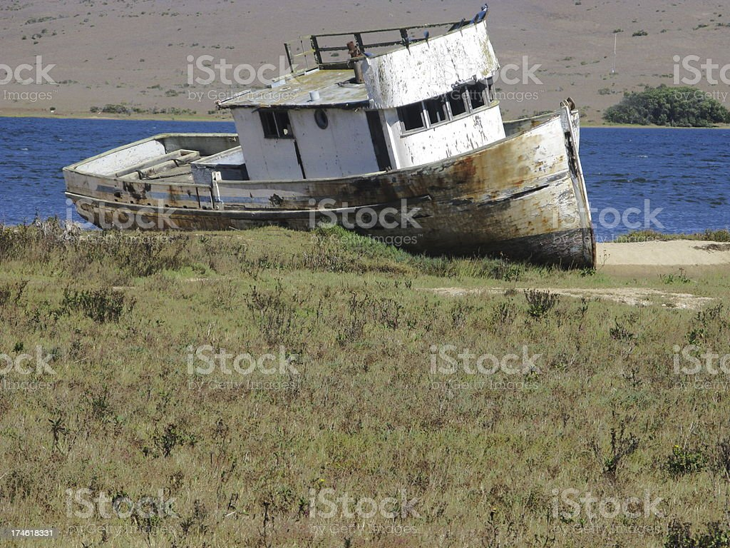 Old Tugboat Beached Retired royalty-free stock photo
