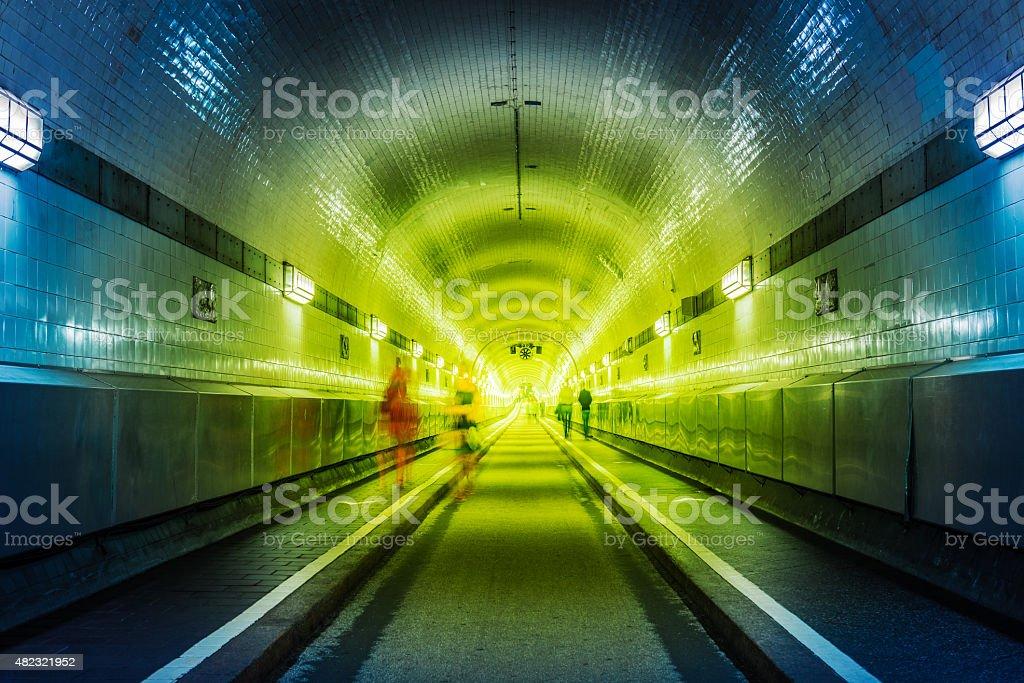 old tunnel Hamburg stock photo