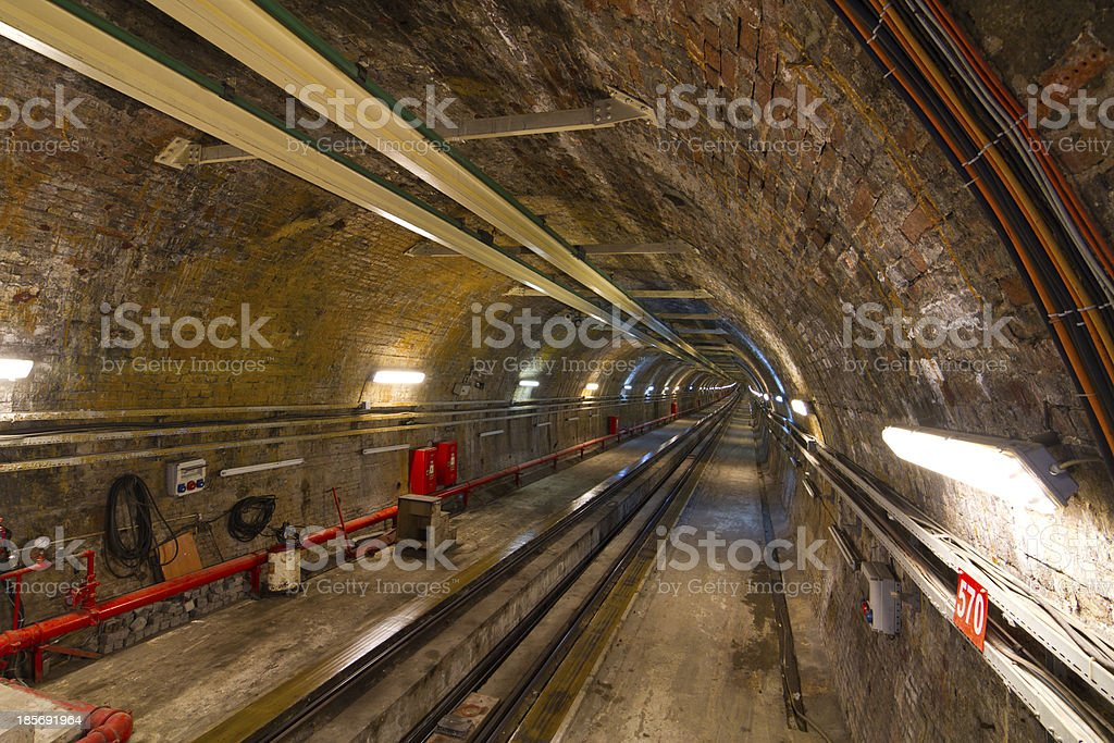Old Tunnel Line from Karakoy to Istiklal Street royalty-free stock photo