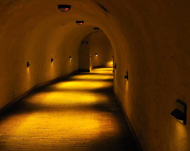 "Old tunnel. ""Underground"" Lublin. stock photo"