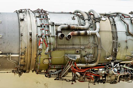 Old turbo jet engine