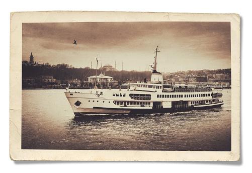 Old Turkey Photo. Isolated on White Background.