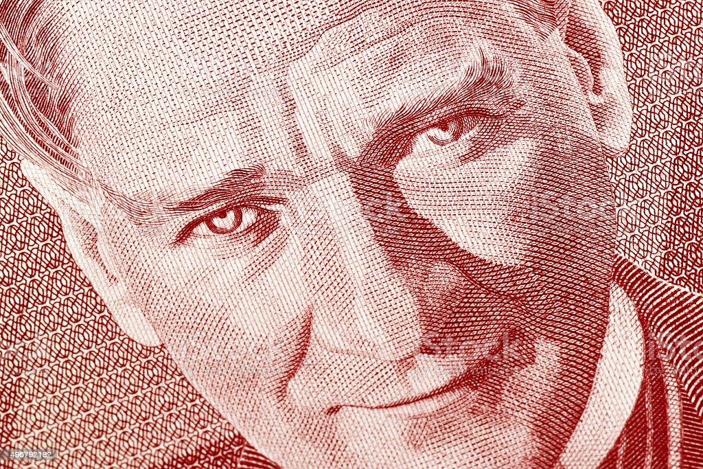 Old Turkish Lira stock photo