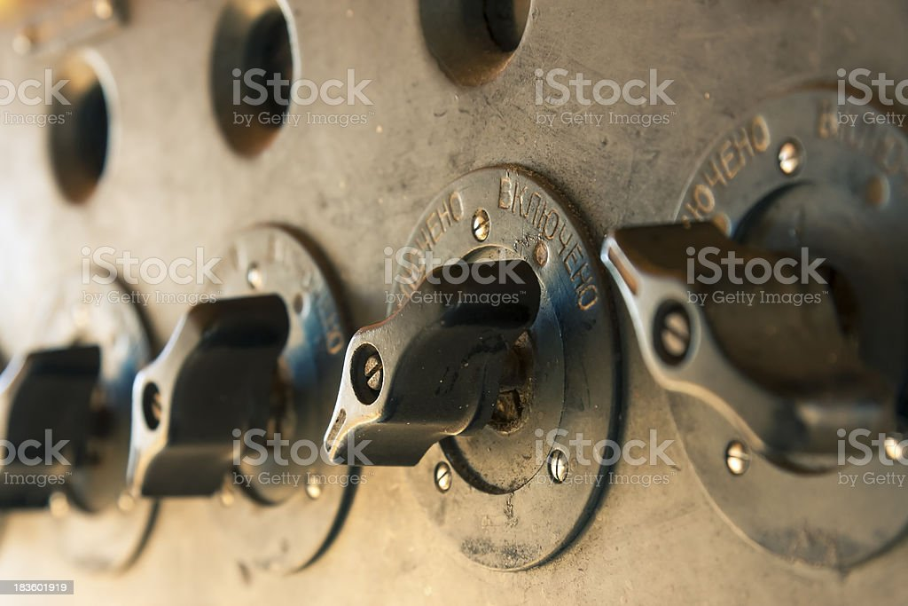 Old turn buttons royalty-free stock photo