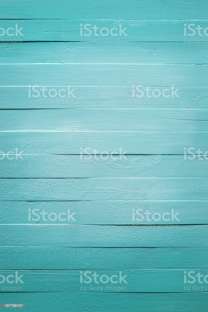 Old turquoise wooden panel background royalty-free stock photo