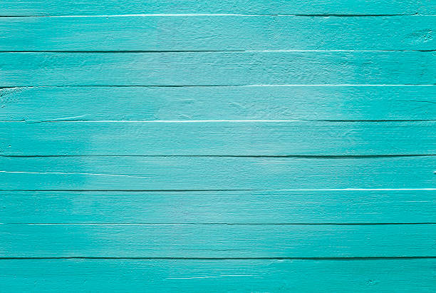 old turquoise wooden panel background. - turquoise colored stock pictures, royalty-free photos & images