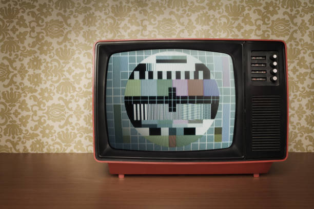 Old TV in Retro Style stock photo
