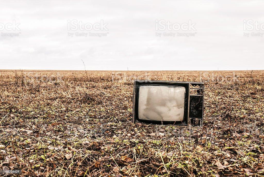 old TV is an autumn field - Royalty-free Autumn Stock Photo