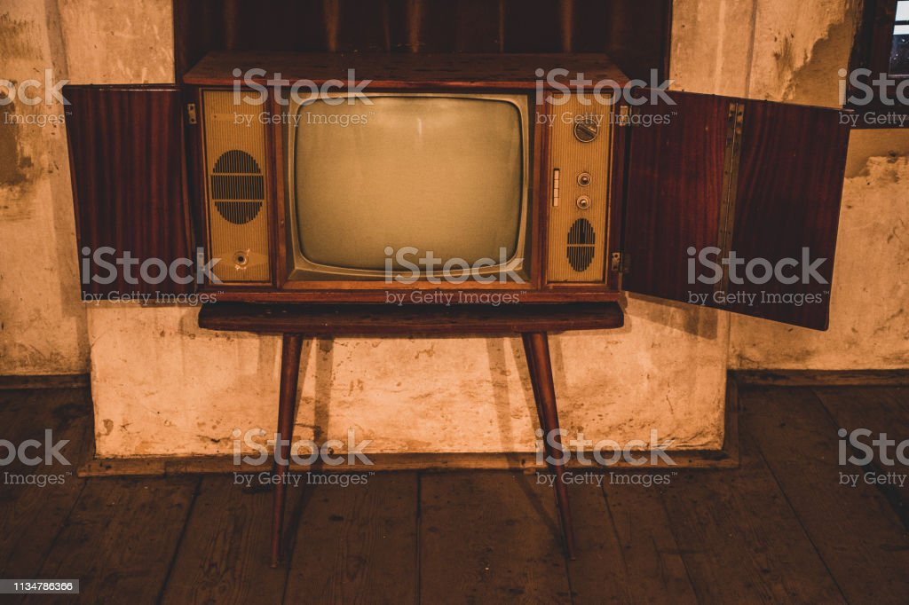 Old TV in abandoned room