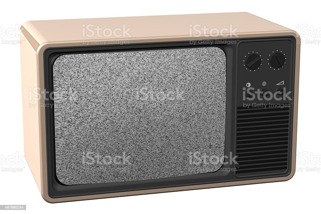 Old tv stock photo