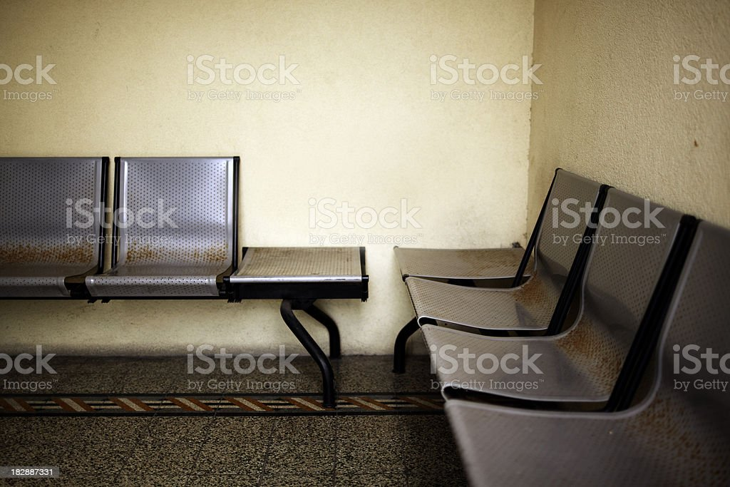 Old \tWaiting Room. Color Image royalty-free stock photo