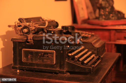 istock Old Type machine 636708476