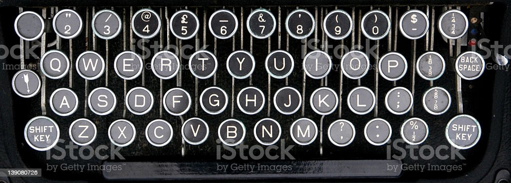 old type writer keys royalty-free stock photo
