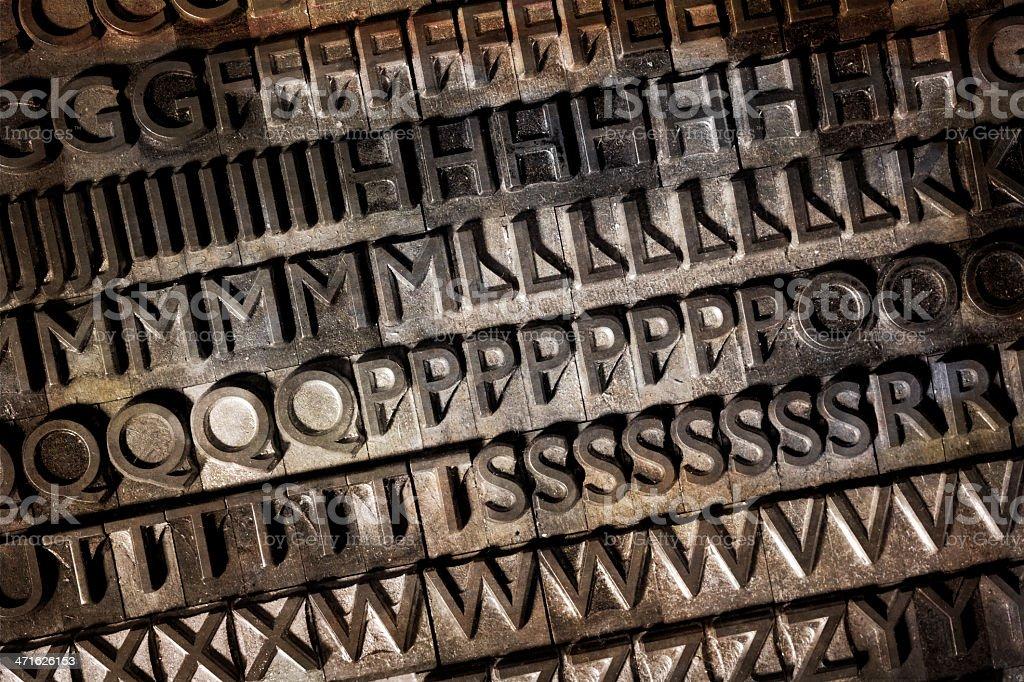 Old typeface background royalty-free stock photo