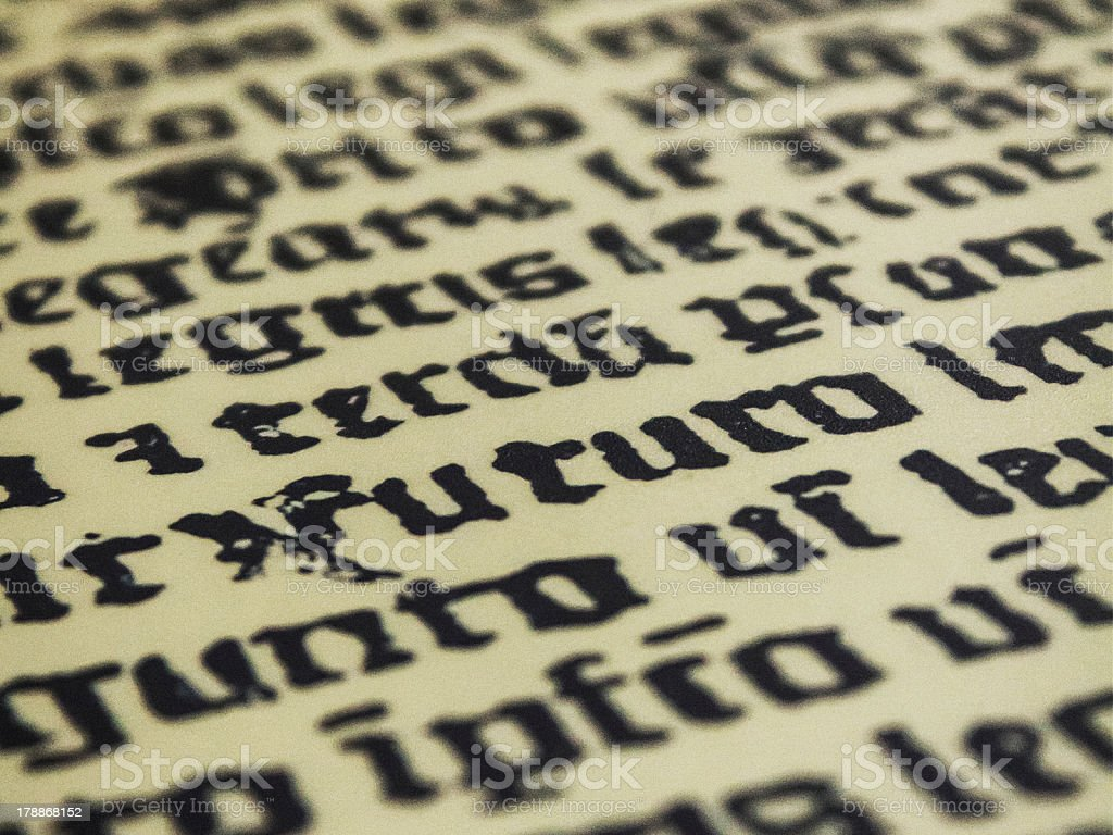 Old Typeface stock photo