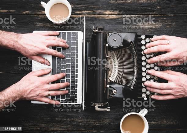 Old typewriter and laptop in use picture id1134490157?b=1&k=6&m=1134490157&s=612x612&h=nxqg6uzs65o3 wmkewybrngo5ubqq f6cy0ptsozfui=