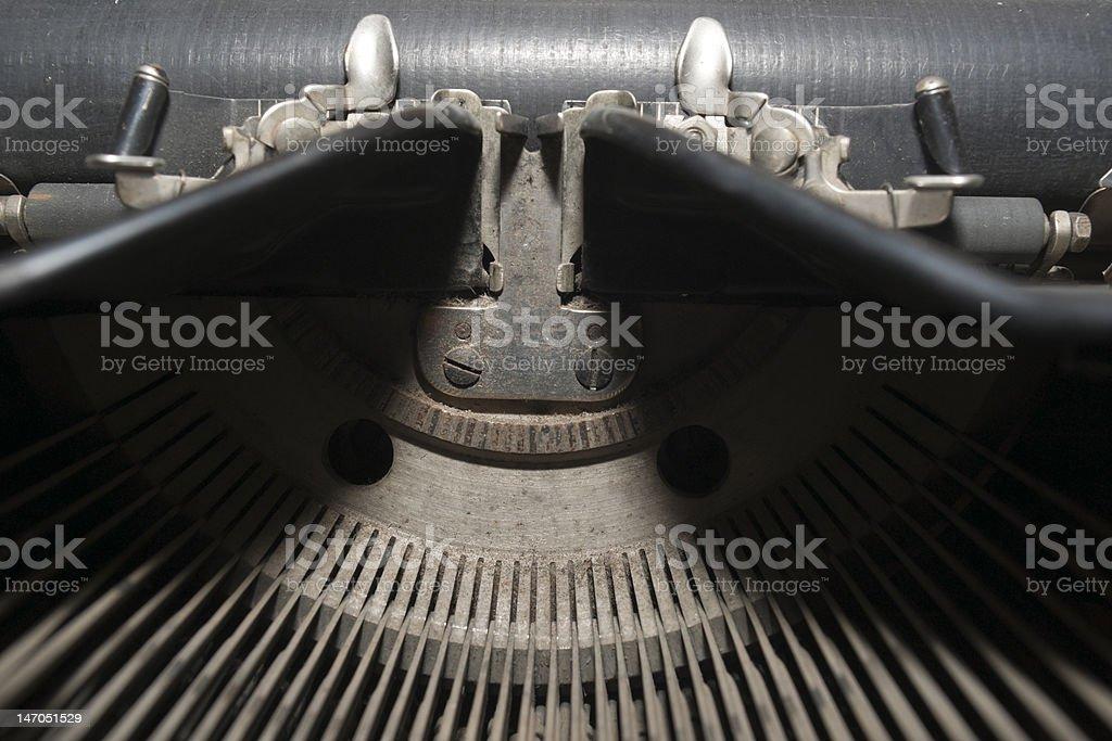 Old Typewriter - Center royalty-free stock photo