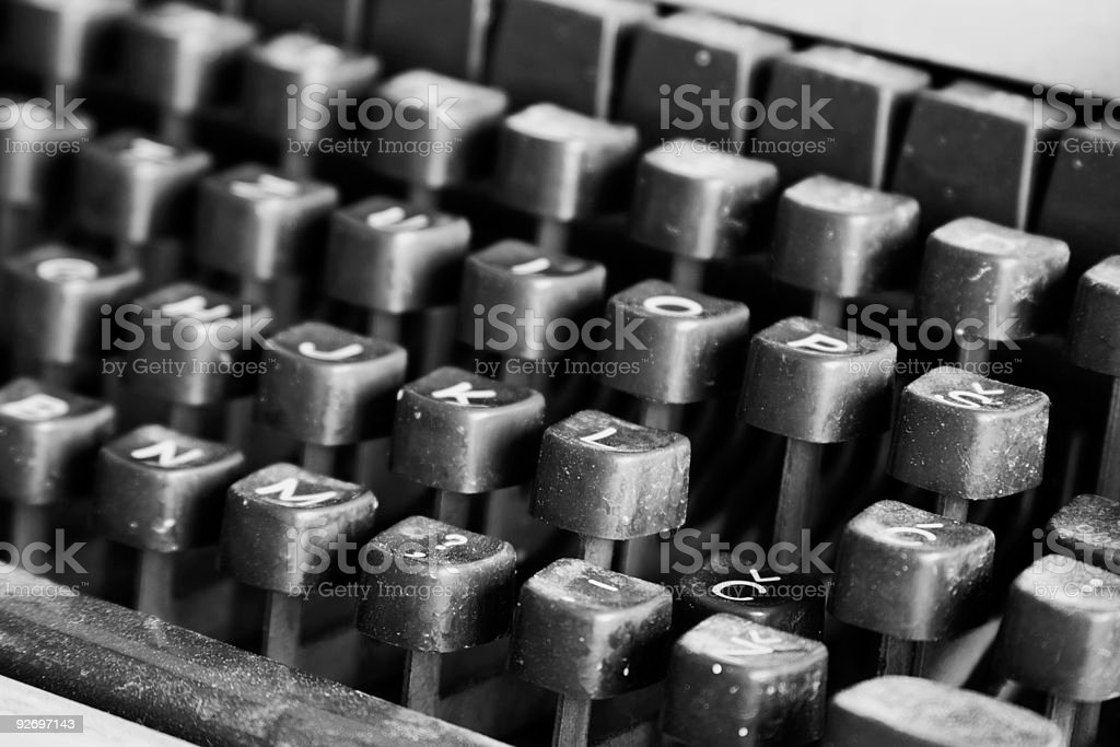 Old typewriter in the waste royalty-free stock photo