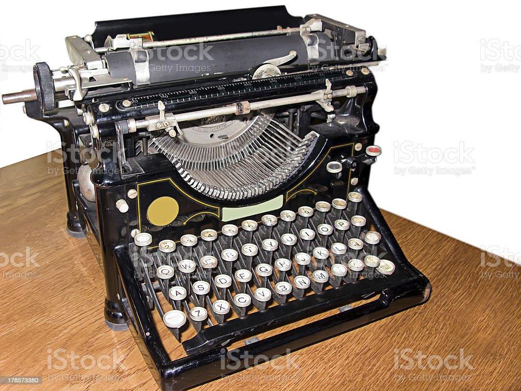 Old typewriter isolated royalty-free stock photo