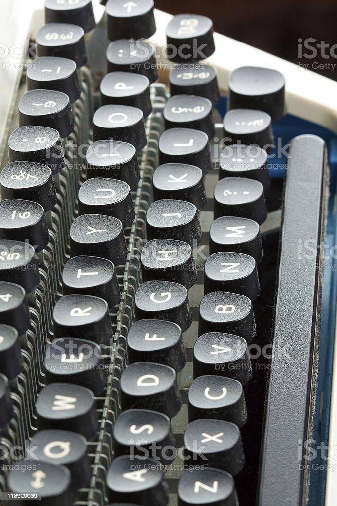 Old typewriter keyboard royalty-free stock photo