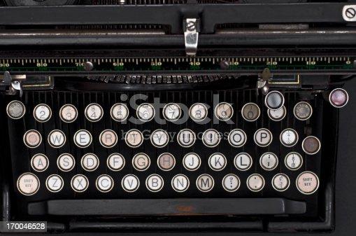 istock Old Typewriter Keyboard 170046528