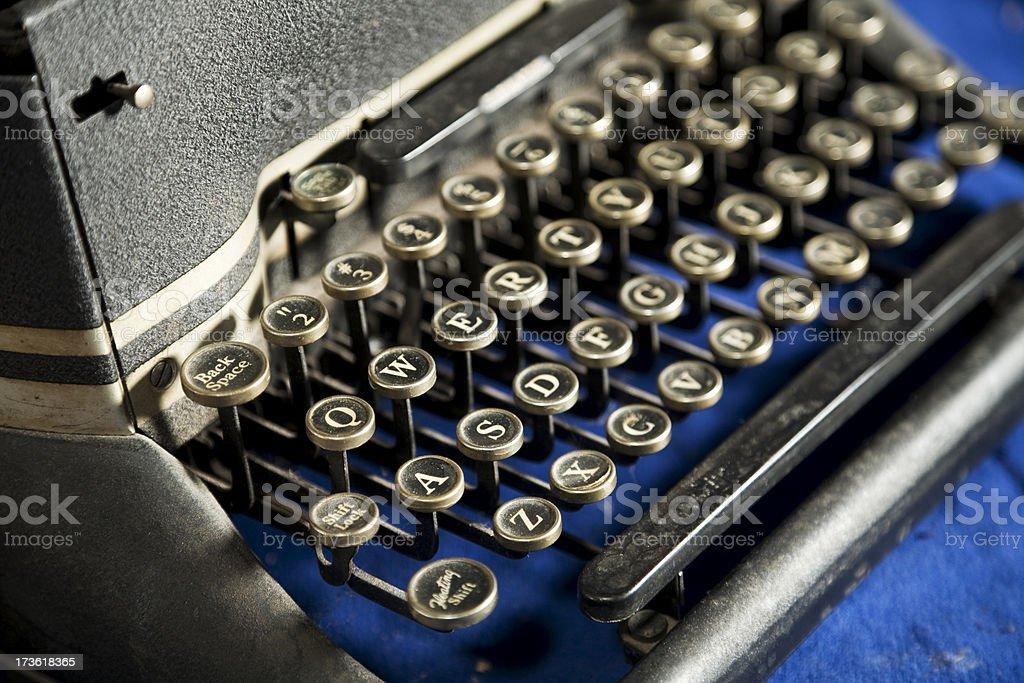 Old Typewriter & Keyboard royalty-free stock photo