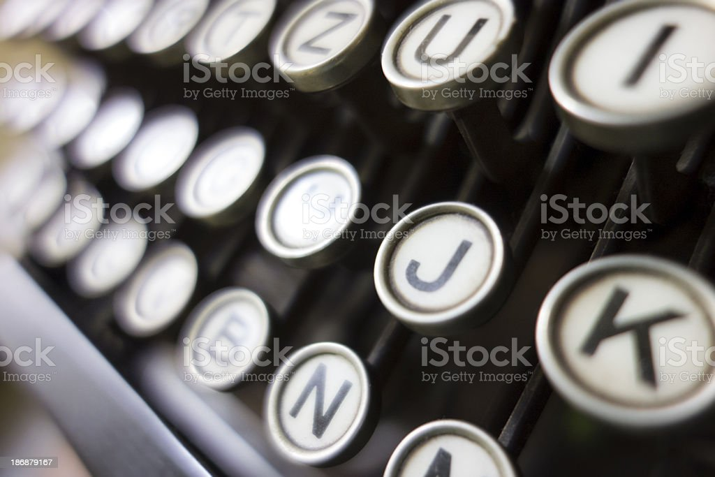 Old typewriter - keys stock photo